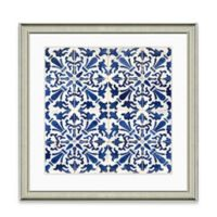 Blue Tile Pattern I Framed Art Print