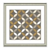 Neutral Geometric I Framed Art Print