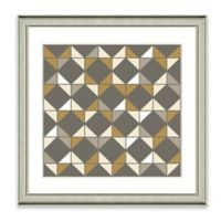 Neutral Geometric II Framed Art Print