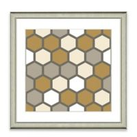 Neutral Geometric III Framed Art Print