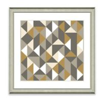 Neutral Geometric IV Framed Art Print