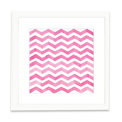 image of The Framed Giclée Pink Pattern Print Wall Art