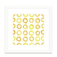 The Framed Giclée Yellow Pattern Print Wall Art