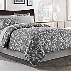 Fara 8-Piece Full Comforter Set in Charcoal/Ivory