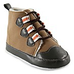 Baby Vision® Luvable Friends™ Size 0-6M Faux Suede Hiking Boot in Brown/Orange