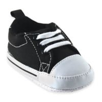 Baby Vision® Luvable Friends™ Size 0-6M Basic Canvas Sneaker in Black