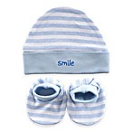 Baby Vision® Luvable Friends® Size 0-6M 2-Piece Cap and Booties Set in Blue