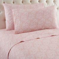 Micro Flannel® Enchantment Rose King Sheet Set