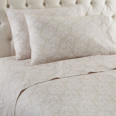 Micro Flannel® Enchantment Taupe Twin Sheet Set