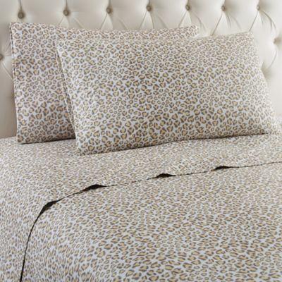 Micro Flannel® Leopard Twin Sheet Set