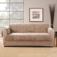 Sure Fit® Silky Touch Loveseat Protector in Taupe