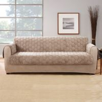 Sure Fit® Silky Touch Sofa Protector in Taupe
