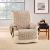 Sure Fit® Silky Touch Recliner Protector in Taupe