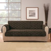 Sure Fit® Silky Touch Loveseat Protector in Chocolate
