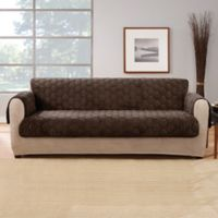 Sure Fit® Silky Touch Sofa Protector in Chocolate