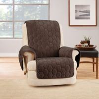 Sure Fit® Silky Touch Recliner Protector in Chocolate