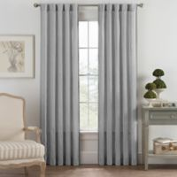 Bayport Fringe 63-Inch Rod Pocket/Back Tab Window Curtain Panel in Grey