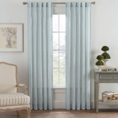 Bayport Fringe 63 Inch Rod Pocket Back Tab Window Curtain Panel In Seafoam
