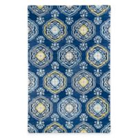 Kaleen Helena Collection Damali 4-Foot x 6-Foot Area Rug in Blue