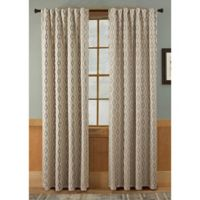Tempe 63-Inch Rod Pocket/Back Tab Window Curtain Panel in Taupe