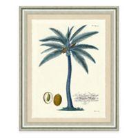 Blue Palm Tree II Framed Art Print