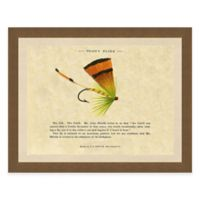 Single Fishing Fly I Framed Art Print