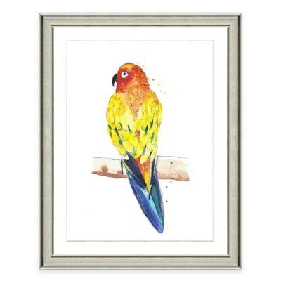 Framed Giclée Watercolor Parrot Wall Art