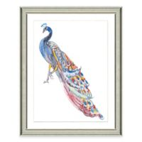 Framed Giclée Watercolor Peacock Print Wall Art