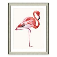 Framed Giclée Watercolor Flamingo Print Wall Art
