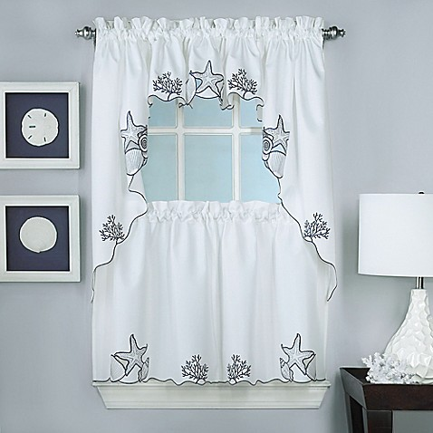 Biscayne Window Curtain Panel And Valance Collection Bed Bath Beyond