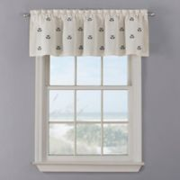 Crossed Anchor Window Valance in White