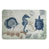 Laural Home® 20-Inch x 30-Inch Seaside Postcard Memory Foam Rug