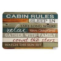 Laural Home® 20-Inch x 30-Inch Cabin Rules Memory Foam Rug