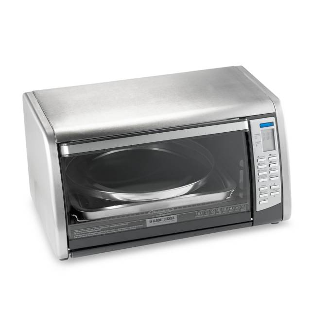 red 6slice toaster oven