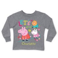 """Peppa Pig Size 14/16 """"Let's Play!"""" Long Sleeve T-Shirt in Grey"""