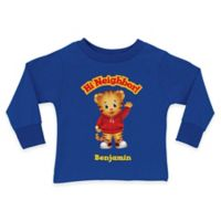 "Daniel Tiger's Neighborhood Size 10/12 ""Hi Neighbor"" Long Sleeve T-Shirt in Blue"