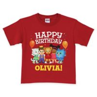 "Daniel Tiger's Neighborhood ""Happy Birthday"" Short Sleeve T-Shirt in Red"