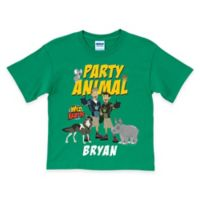 "Wild Kratts Size 2/4 ""Party Animal"" Birthday T-Shirt in Green"