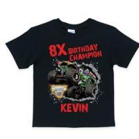 """Monster Jam® """"Birthday Champion"""" T-Shirt in Black"""