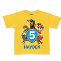 "Nickelodeon™ Size 2T ""PAW Patrol"" Pawesome Birthday T-Shirt in Yellow"