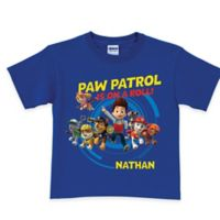 "Nickelodeon™ Size 6/8 ""PAW Patrol is on a Roll!"" T-Shirt in Royal Blue"