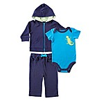 Baby Vision® Yoga Sprout Size 18-24M 3-Piece Hoodie, Pant, and Lizard Bodysuit Set in Blue