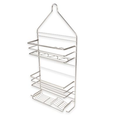 twotier rust proof shower caddy in satin nickel