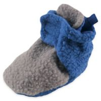 Baby Vision® Luvable Friends™ Size 12-18M Scooties Fleece Booties in Grey/Blue