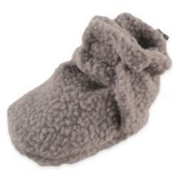 Baby Vision® Luvable Friends™ Size 12-18M Scooties Fleece Booties in Solid Grey