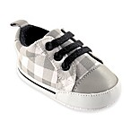 BabyVision® Luvable Friends™ Size 6-12M Basic Canvas Sneaker in Grey Plaid