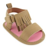 BabyVision® Luvable Friends® Size 0-6M Fringe Sandal in Tan