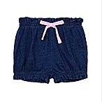Splendid® Size 6-12M Ruffed Bloomer Short in Indigo/Pink