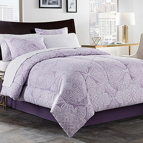 lea 6 8 comforter set in purple white bed bath lea 6 8 comforter set in purple white bed bath 794