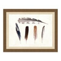 Multiple Feathers II Framed Art Print